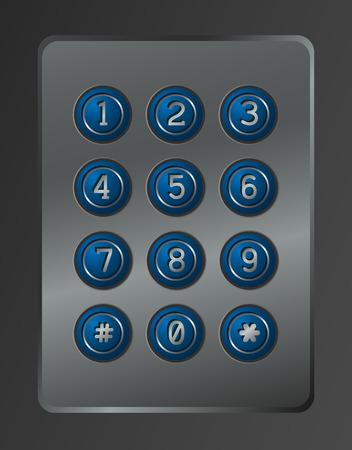dial lock: Digital dial plate of security lock.