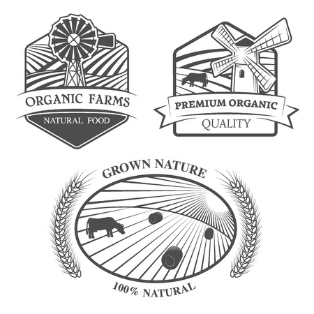 Natural products. Emblem, label. EPS 8. photo