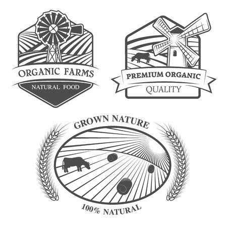 productos naturales: Productos naturales. Emblema, etiqueta. EPS 8.