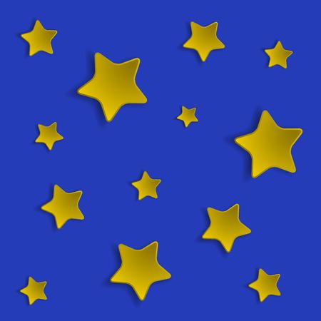 estrella caricatura: Cielo estrellado estrellas volumétricos.