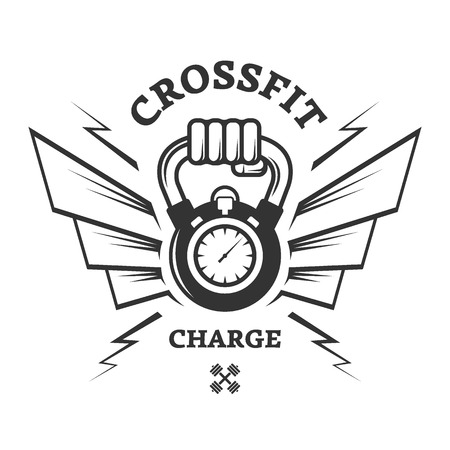 CrossFit workouts for a while. Logo label. Stock Vector - 43558438