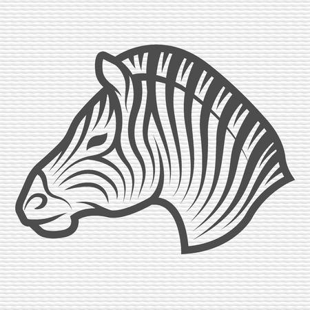 contours: Zebra symbol emblem Contour Design