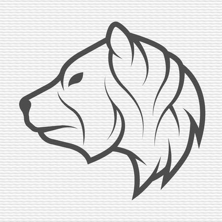 The bear symbol emblem. Contour Design.