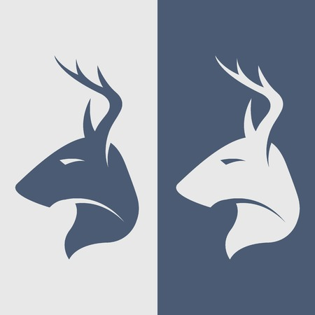 venado: La ilustración ciervos icono de símbolo.