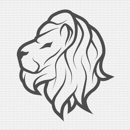 the contour: Lion symbol emblem Contour Design Illustration