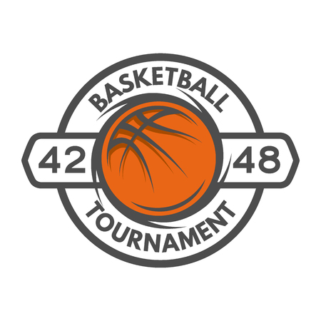 championship: Basketball template Logo badge emblem Vector illustration.