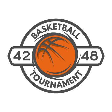 Modèle de basket-ball emblème Logo badge Vector illustration. Banque d'images - 45945733