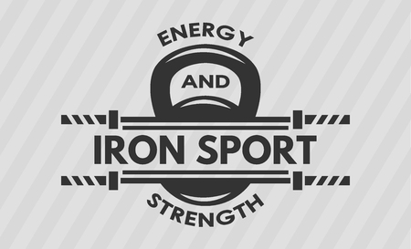 iron cross emblem: Cross Training and Fitness. Weight and  barbell. The monochrome style.