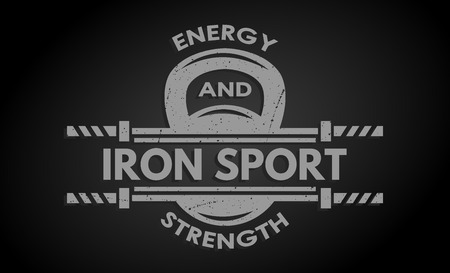 iron cross emblem: Cross Training Fitness Weight and  barbell. The monochrome style. Illustration
