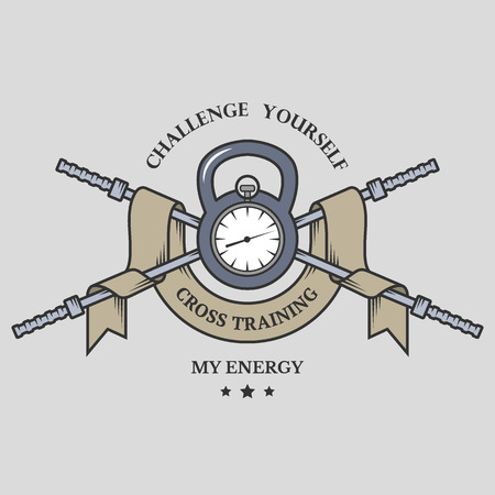 iron cross emblem: Training on time Cross Training emblem. Vector illustration. Illustration