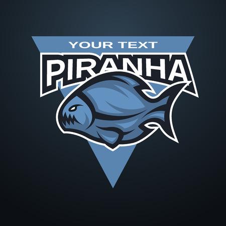 team sports: Emblema Piranha, logotipo de un equipo deportivo.