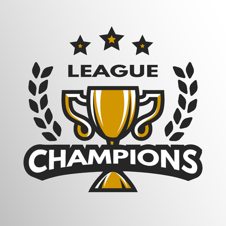 sports league: Champion sports league logo emblem badge.