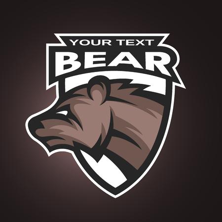 team sports: Oso emblema, logotipo de un equipo deportivo. Ilustración del vector.