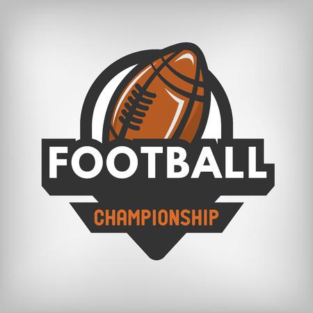bannière football: Sport de football emblème logo label américain. Vector illustration.