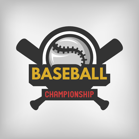 baseball: Baseball sports logo label emblem. Vector illustration. Illustration