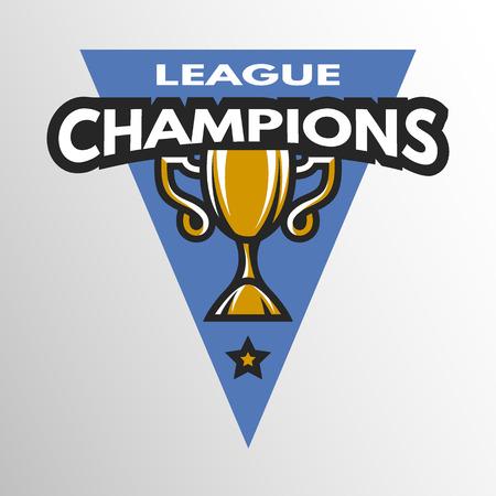 league: Champions League logo emblem badge. Vector illustration.
