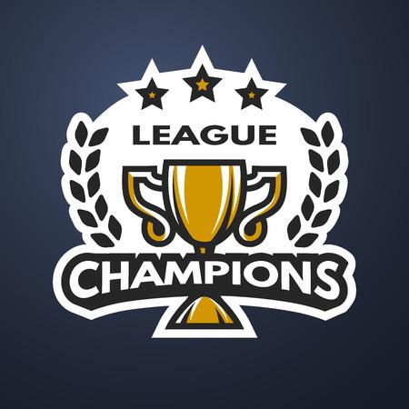 league: Champions League Sports logo emblem badge. Vector illustration.