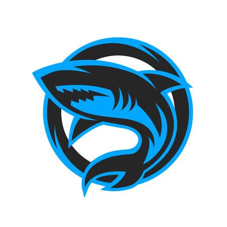 surf team: Shark sport logo symbol emblem. Vector illustration. Illustration