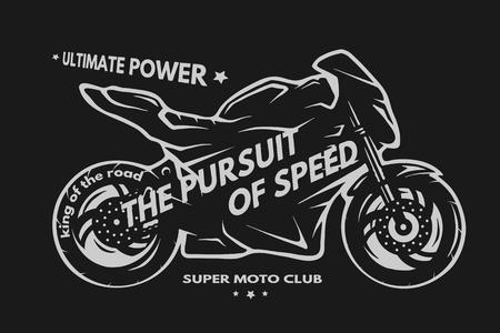 t shirt design: Sport superbike motorcycle Labels badges emblem t shirt design.