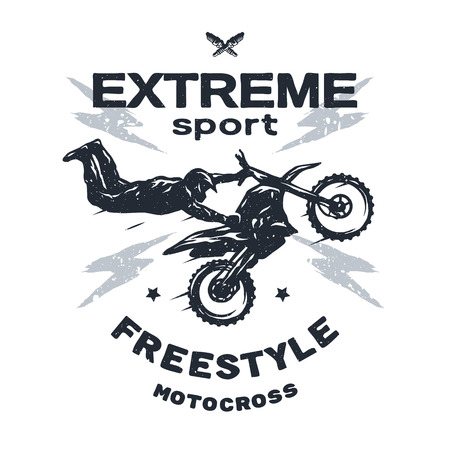motocross riders: Extreme motocross Emblem t-shirt design