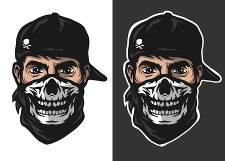 The guy in the bandana with a skull pattern two options.