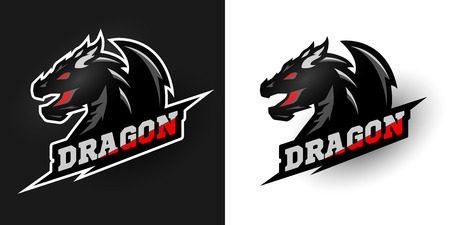 gamer: Logo Dragon, sporty style. Two options.