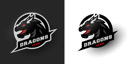 Dragon Sport logo. Two options.