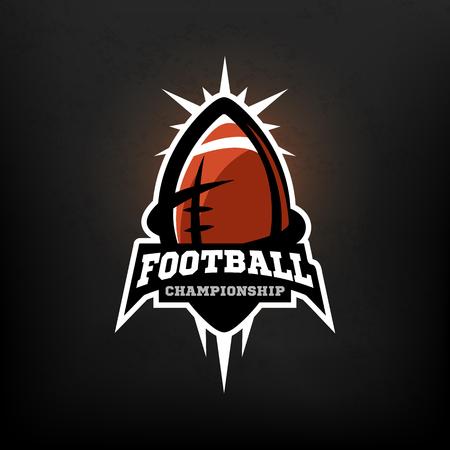 footbal: American football championship logo Vector illustration.
