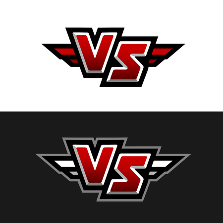 VS Logo Versus symbol Vector illustration.