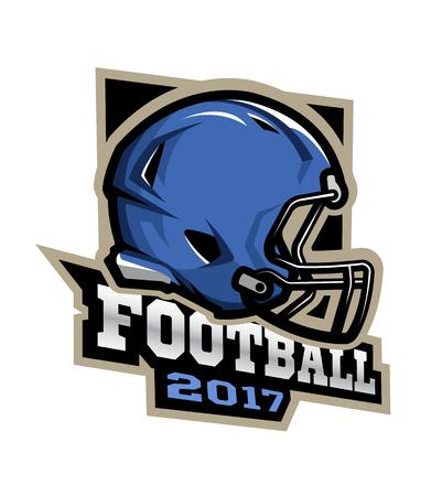 American football Games 2017 emblem sticker logo. Illustration
