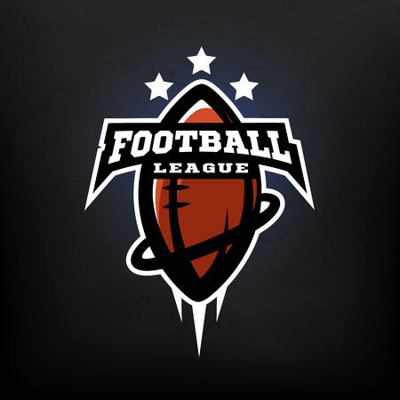 American football league logo. Vector illustration