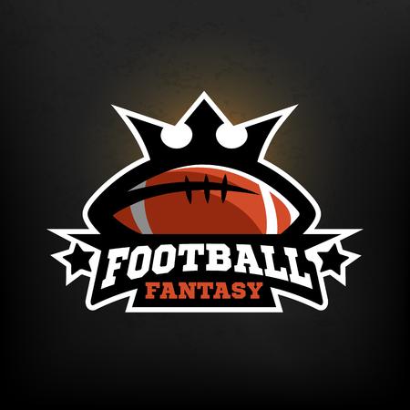 American football fantasy logo.