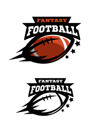American football fantsy. Two options logo on a white background