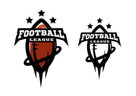 American football. Two options logo on a white background Illustration