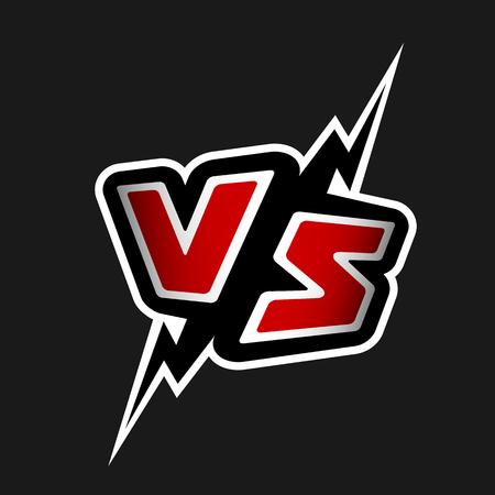 Versus letters. VS logo.