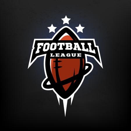 American football league logo. Illustration
