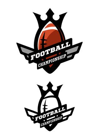 American football. Two options logo.