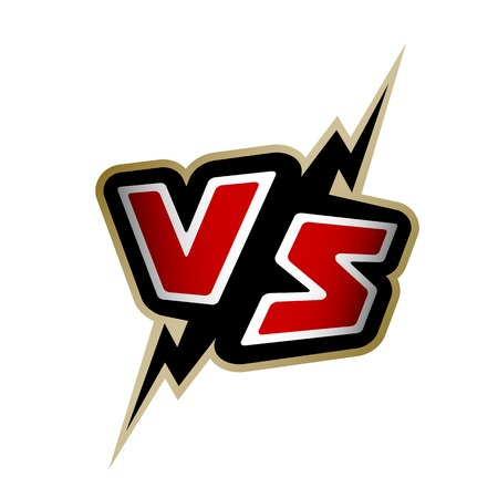 Versus letters. VS logo Vector illustration on a white background