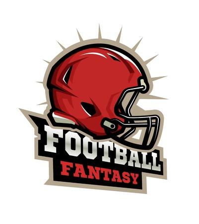 American football modern logo.