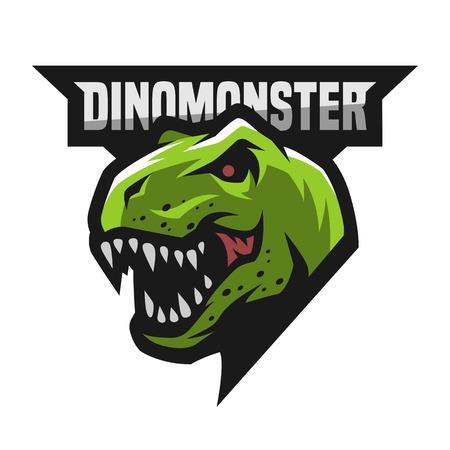 Ferocious dinosaur logo.