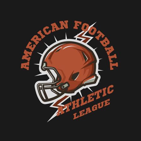 American Football Helm Emblem. Standard-Bild - 75490332
