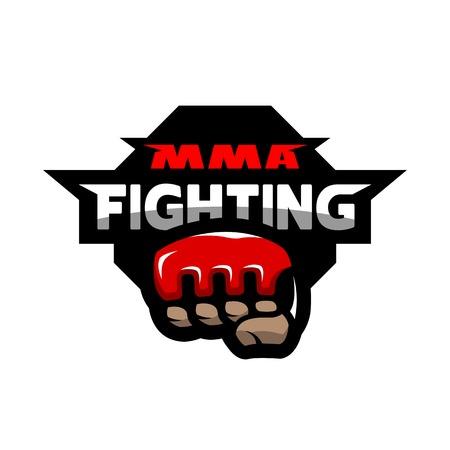 Logo de combat MMA. Banque d'images - 76390029