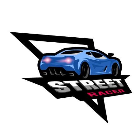 Street racer, symbol, emblem.