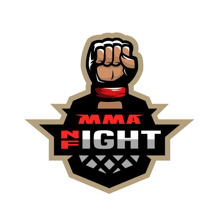 Mixed martial arts sport logo. Illustration