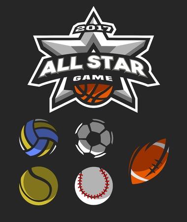 All star game logo, emblem.