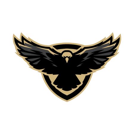 Aquila in volo, logo, simbolo. Archivio Fotografico - 76736661