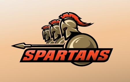 スパルタの戦士。ロゴ、シンボル。