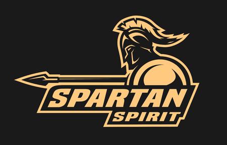 Spartaanse geest. Symbool, logo. Stock Illustratie