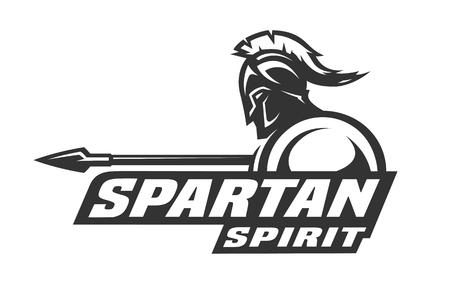 スパルタの精神。シンボル、ロゴ。  イラスト・ベクター素材