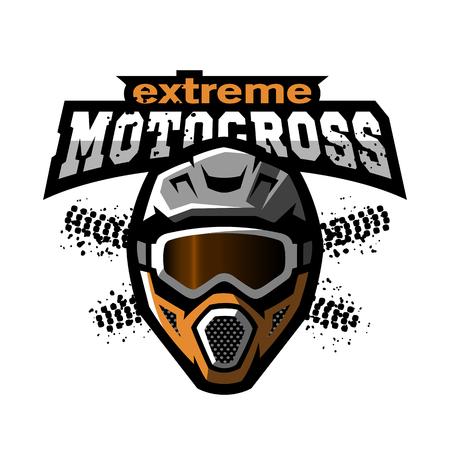 극단적 인 motocross 로고. 일러스트